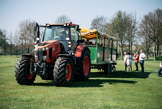 Ride around the showground on our tractor